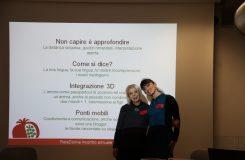 ReteDonne Lisa Mazzi und Eleonora Cucina bei einer Rede